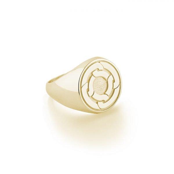 GOÁR signet ring Lemon Gold