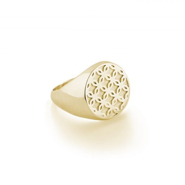 VARDUÍ signet ring Lemon Gold